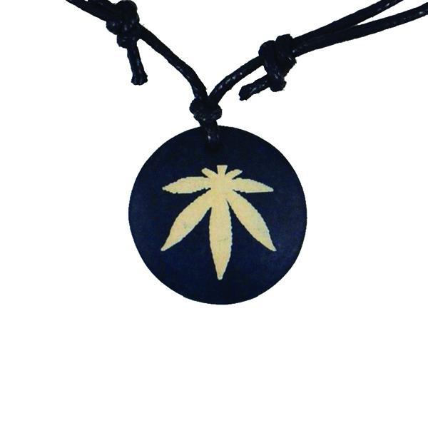 Collier Rasta  Weed Bois (Coton)