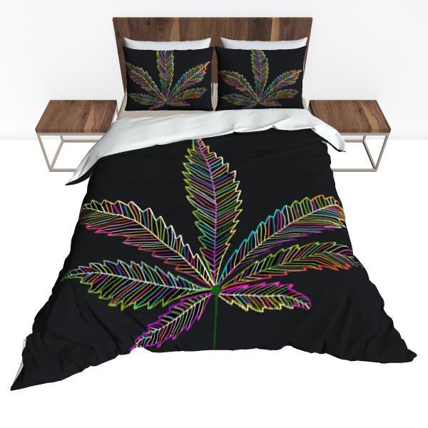 Housse De Couette Rasta  Feuille Cannabis