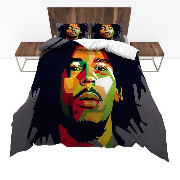 Housse De Couette Rasta  Portrait Bob Marley