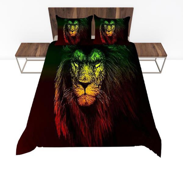 Housse De Couette Rasta  Lion Rastafari