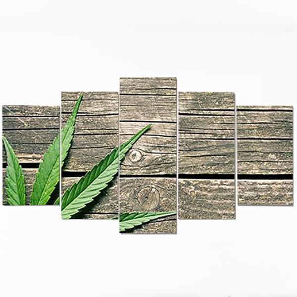 Tableau Rasta  Feuille Weed