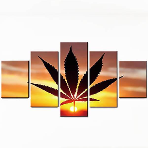 Tableau Rasta  Feuille Cannabis
