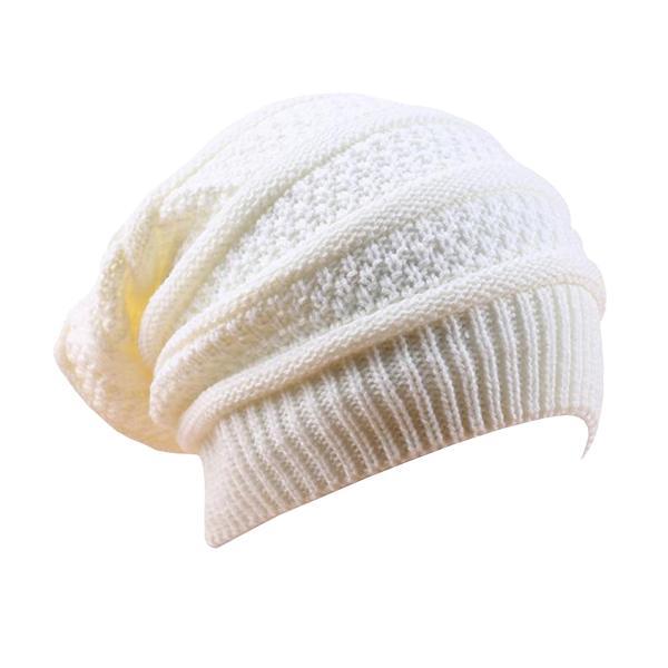 Bonnet Rasta  Blanc Sobre (Long)