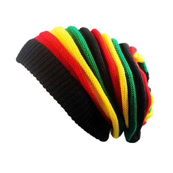 Bonnet Rasta  Vert Jaune Rouge (Long)