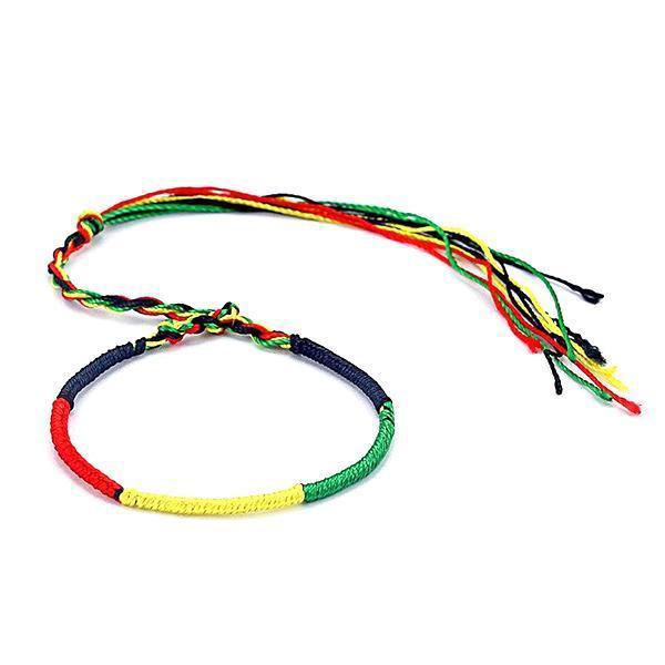 Bracelet Rasta  Rond Tricolore (Brésilien)