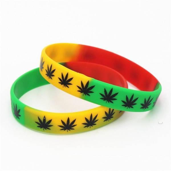 Bracelet Rasta  Reggae Élastique (Silicone)