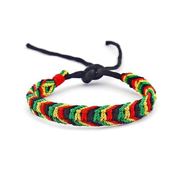 Bracelet Rasta  Rasta Tressé (Brésilien)