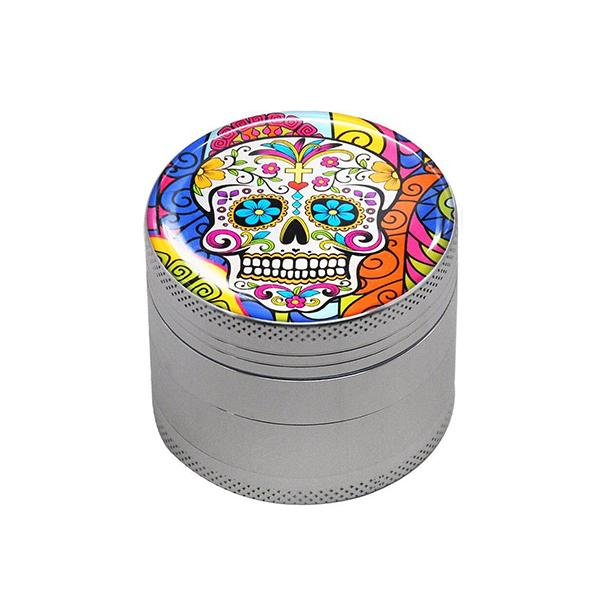 Grinder Rasta  Skull Mexicain (4 Pièces)