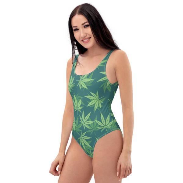 Maillot De Bain Rasta  Reggae Weed (1 Pièce)