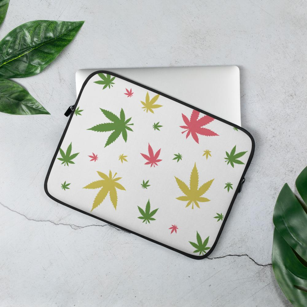 Housse PC Rasta  Flocons Cannabis