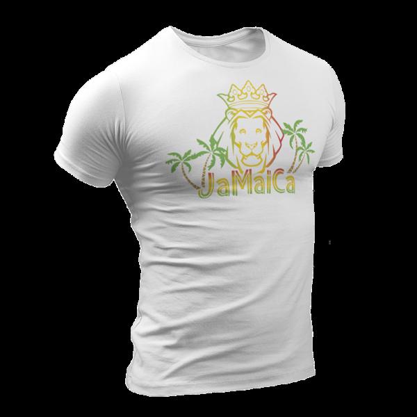T-Shirt Rasta  Lion Blanc