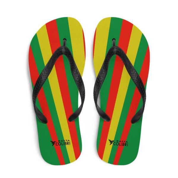 Tongs Rastas  Bandes Tricolores