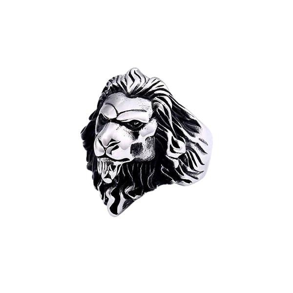 Bague Rasta  Tête De Lion (Acier)