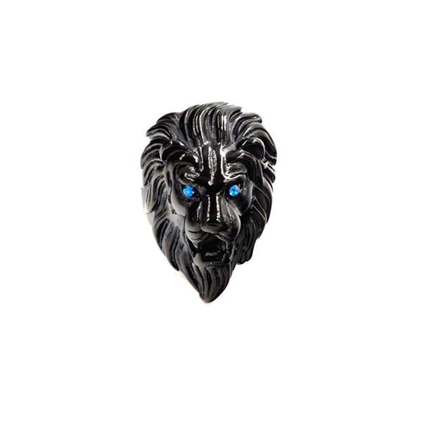 Bague Rasta  Lions Marcheurs Blancs (Acier)