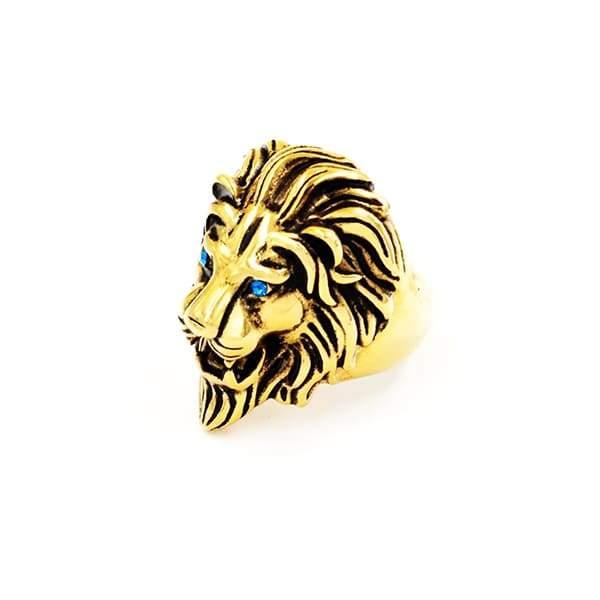 Bague Rasta  Lion Perse (Acier)