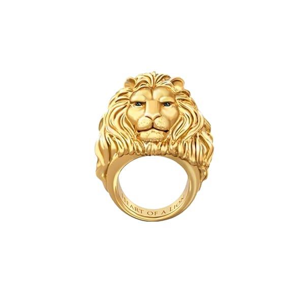 Bague Rasta  Cœur De Lion (Acier)
