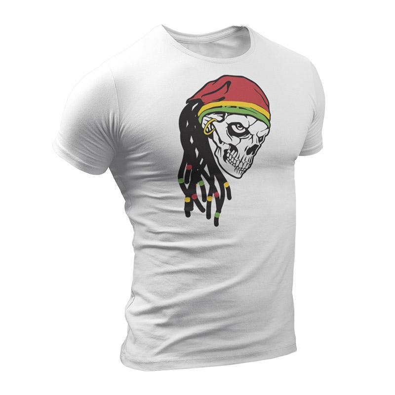 T-Shirt Rasta  Crâne Rastafari