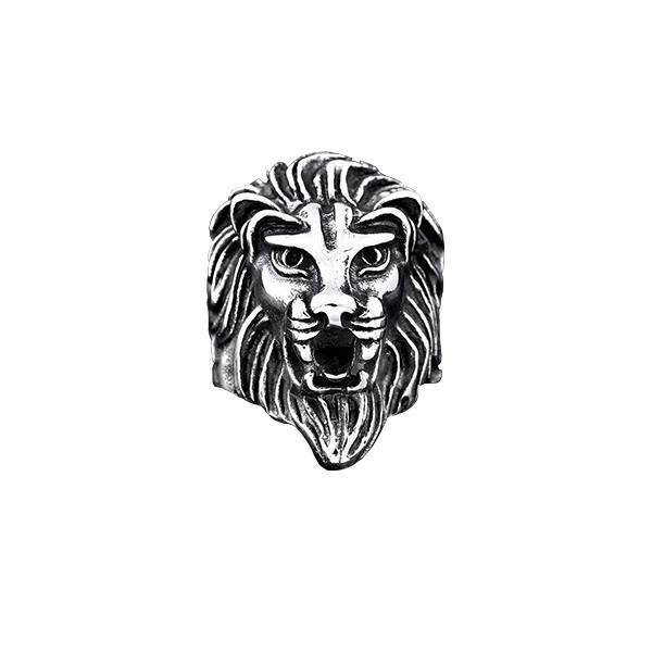 Bague Rasta  Lion Sage (Acier)
