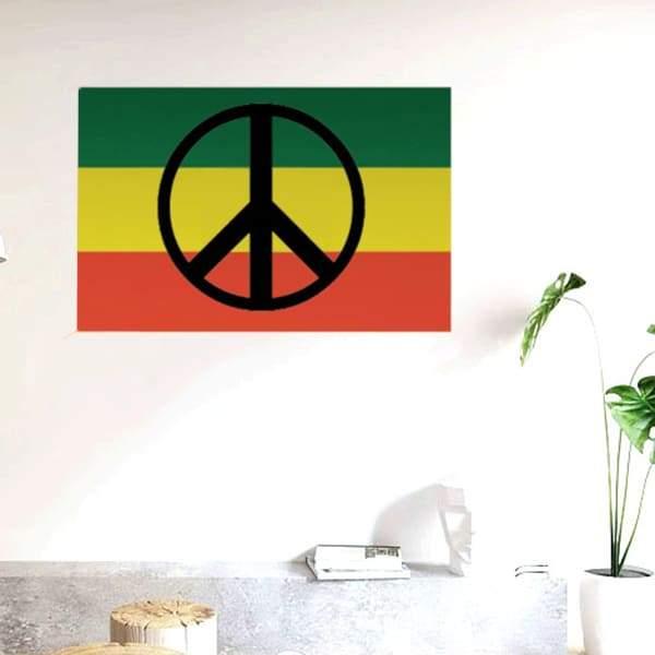 Drapeau Rasta  Peace & Love