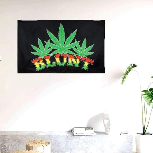 Drapeau Rasta  Blunt De Weed