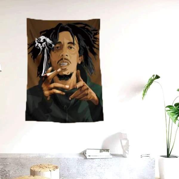 Drapeau Rasta  Bob Marley