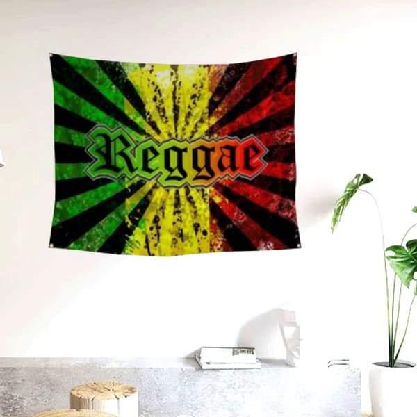 Drapeau Rasta  Reggae Music