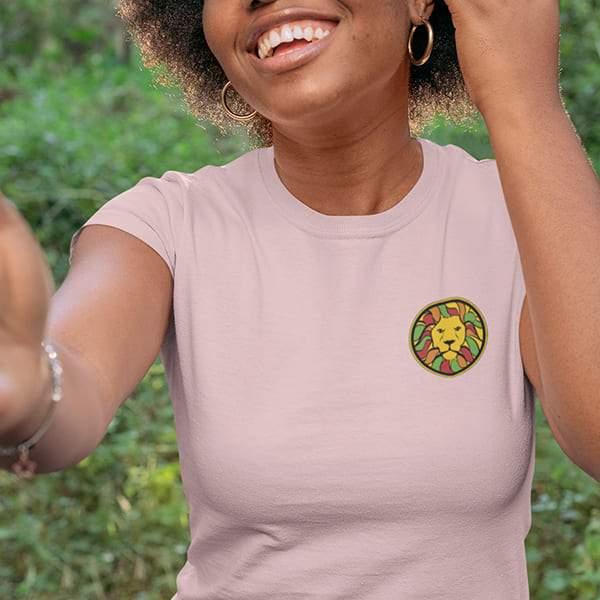 T-Shirt Rasta  Patch Lion