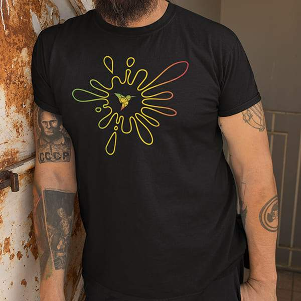 T-Shirt Rasta  Peinture Abstraite