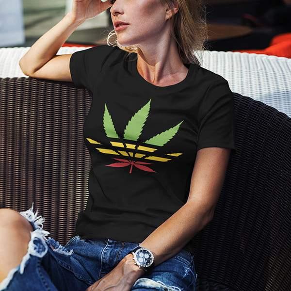 T-Shirt Rasta  Beuh Multicolore