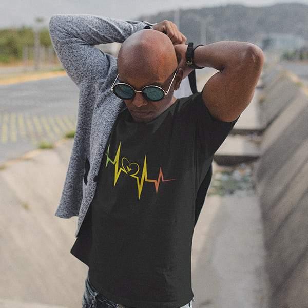 T-Shirt Rasta  Battement De Cœur