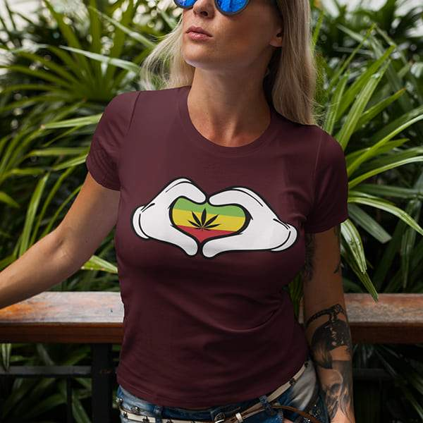 T-Shirt Rasta  Cœur Ganja