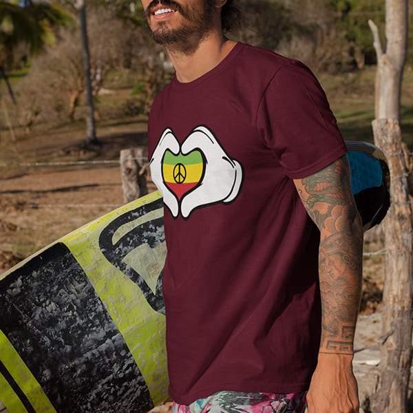T-Shirt Rasta  Cœur Peace