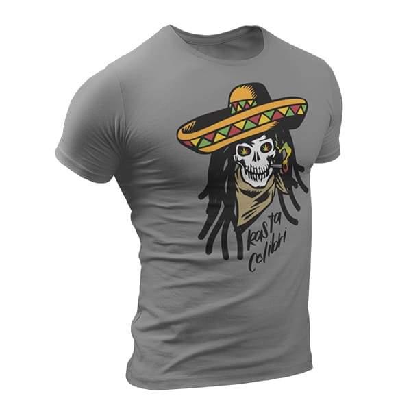 T-Shirt Rasta  Crâne Colombien