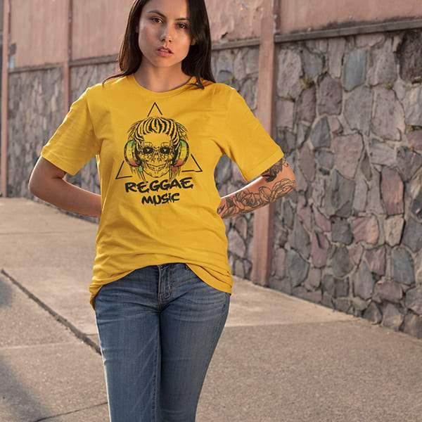 T-Shirt Rasta  Crâne DJ