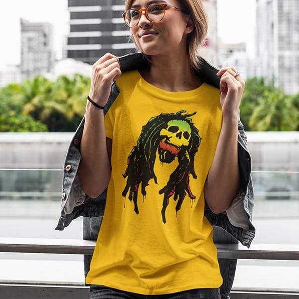 T-Shirt Rasta  Crâne Rasta