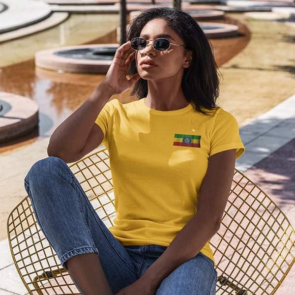 T-Shirt Rasta  Drapeau Éthiopie