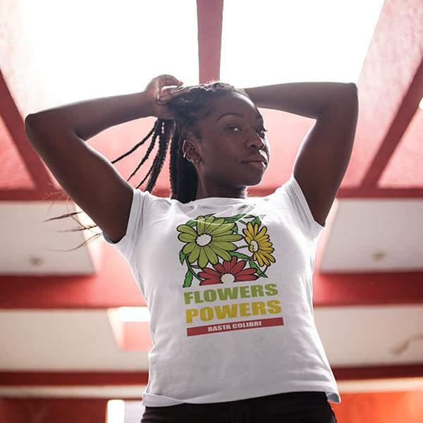 T-Shirt Rasta  Fleurs Roots