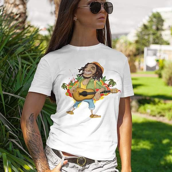 T-Shirt Rasta  Guitare Roots