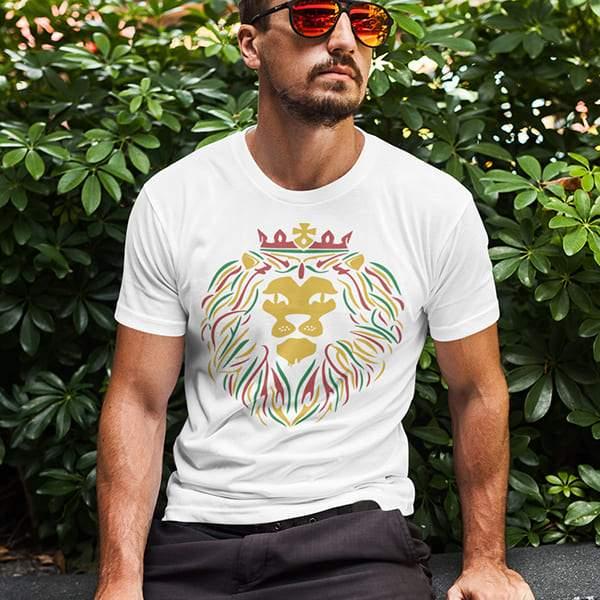 T-Shirt Rasta  Lion Reggae