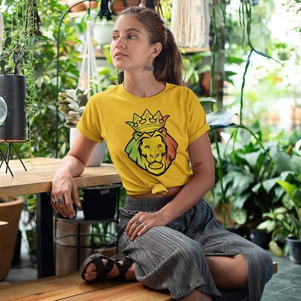 T-Shirt Rasta  Lion Roi