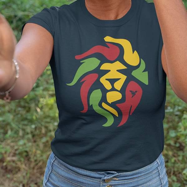 T-Shirt Rasta  Lion Roots