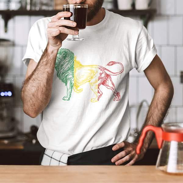 T-Shirt Rasta  Lion Sacré