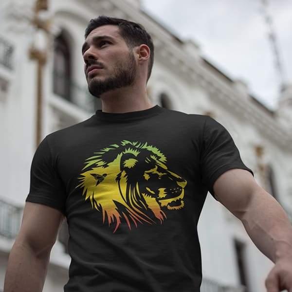T-Shirt Rasta  Lion Sage