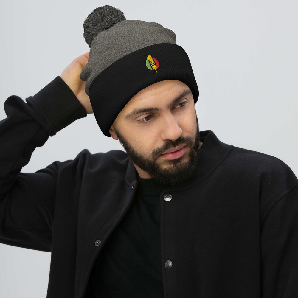 Bonnet Rasta  Flamme Rastafari (Pompon)