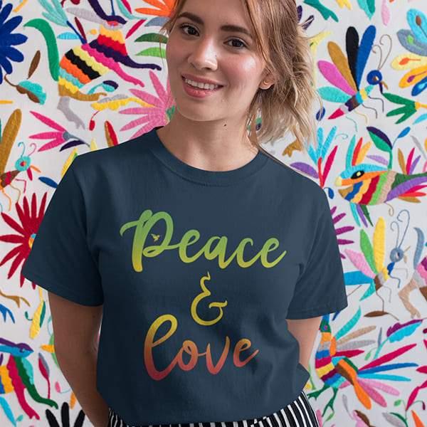 T-Shirt Rasta  Peace & Love