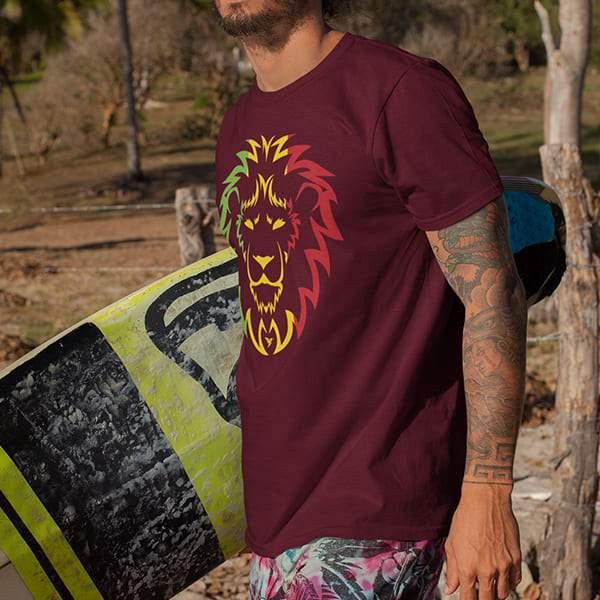 T-Shirt Rasta  Ragga Lion