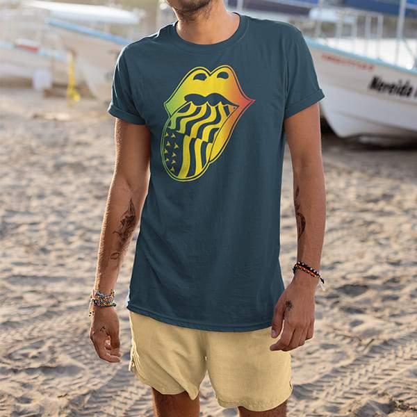 T-Shirt Rasta  Rolling Vibes