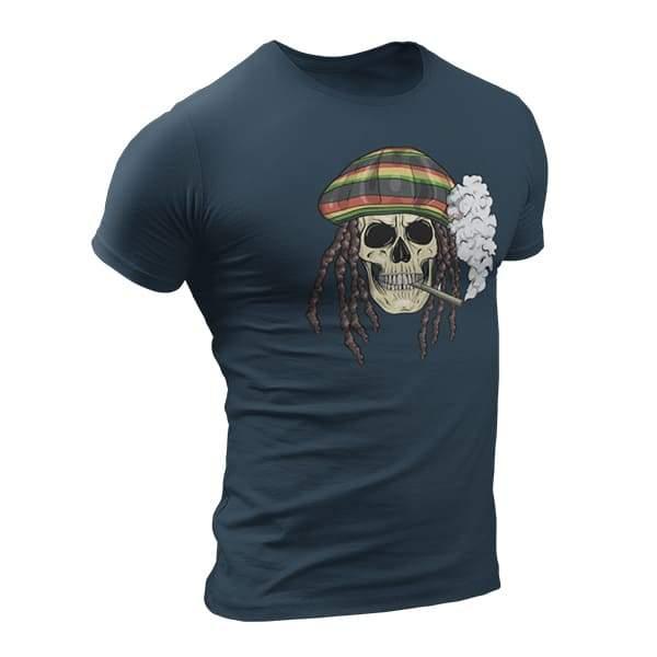 T-Shirt Rasta  Tête De Mort
