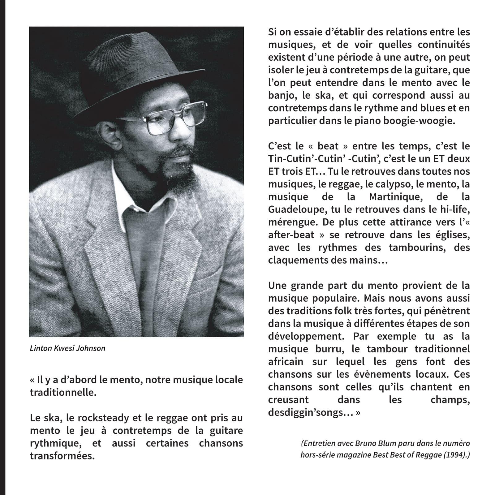 citation sur l'interpretation de la musique reggae