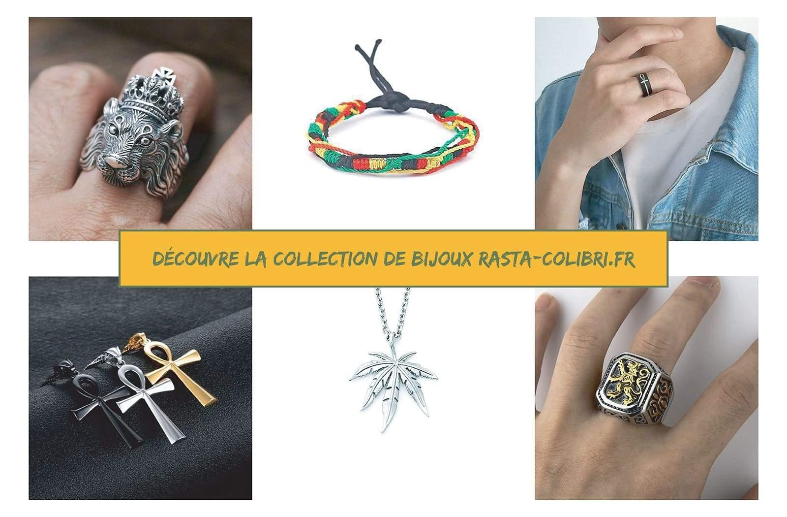 Collection de bijoux rastas